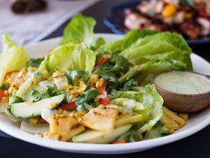 Cos Charred Corn Pinapple and Avocado Salad